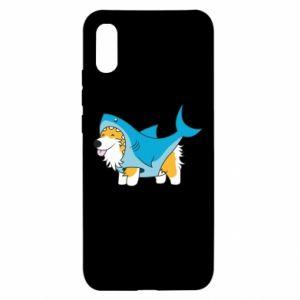 Etui na Xiaomi Redmi 9a Corgi Disguise as Shark