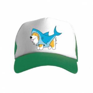 Kid's Trucker Hat Corgi Disguise as Shark