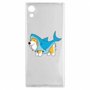 Etui na Sony Xperia XA1 Corgi Disguise as Shark