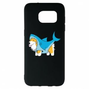 Etui na Samsung S7 EDGE Corgi Disguise as Shark