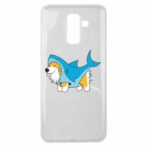 Etui na Samsung J8 2018 Corgi Disguise as Shark