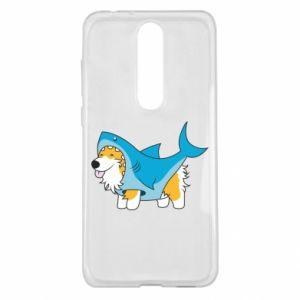 Etui na Nokia 5.1 Plus Corgi Disguise as Shark