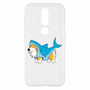 Etui na Nokia 4.2 Corgi Disguise as Shark