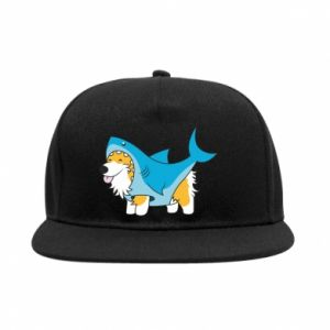 Snapback Corgi Disguise as Shark