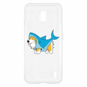 Etui na Nokia 2.2 Corgi Disguise as Shark