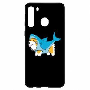 Etui na Samsung A21 Corgi Disguise as Shark