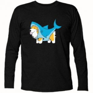 Koszulka z długim rękawem Corgi Disguise as Shark