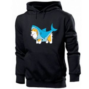 Men's hoodie Corgi Disguise as Shark