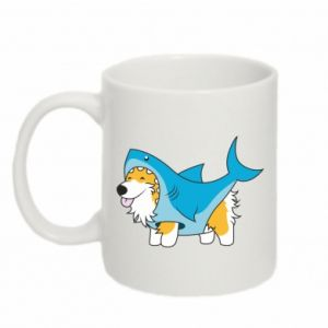 Kubek 330ml Corgi Disguise as Shark