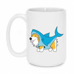 Kubek 450ml Corgi Disguise as Shark