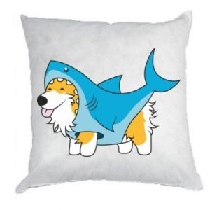 Poduszka Corgi Disguise as Shark