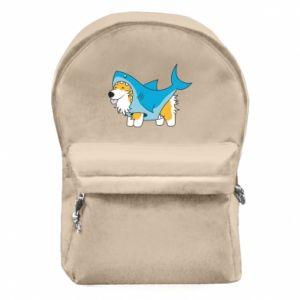 Plecak z przednią kieszenią Corgi Disguise as Shark