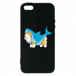 Etui na iPhone 5/5S/SE Corgi Disguise as Shark