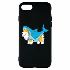 Etui na iPhone 8 Corgi Disguise as Shark