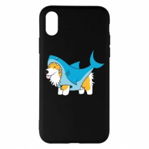 Etui na iPhone X/Xs Corgi Disguise as Shark