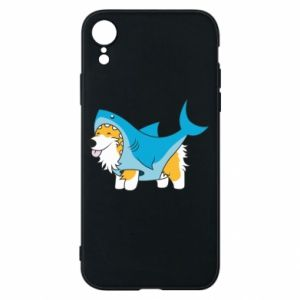 Etui na iPhone XR Corgi Disguise as Shark