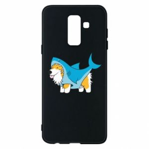 Etui na Samsung A6+ 2018 Corgi Disguise as Shark
