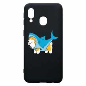 Etui na Samsung A40 Corgi Disguise as Shark