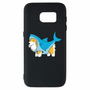 Etui na Samsung S7 Corgi Disguise as Shark