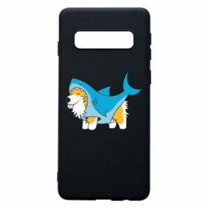 Etui na Samsung S10 Corgi Disguise as Shark