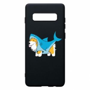 Etui na Samsung S10+ Corgi Disguise as Shark