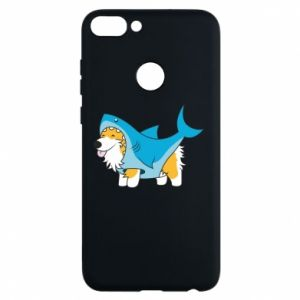 Etui na Huawei P Smart Corgi Disguise as Shark
