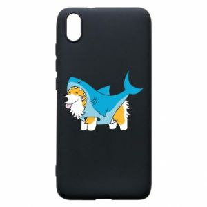 Etui na Xiaomi Redmi 7A Corgi Disguise as Shark