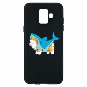Etui na Samsung A6 2018 Corgi Disguise as Shark