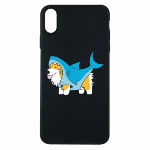 Etui na iPhone Xs Max Corgi Disguise as Shark