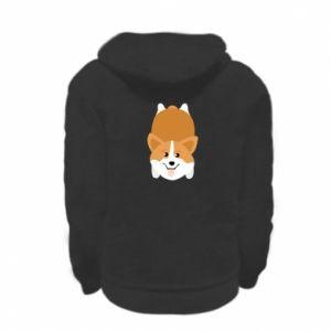 Kid's zipped hoodie % print% Corgi