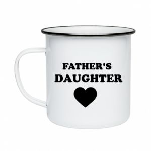 Enameled mug Father's daughter