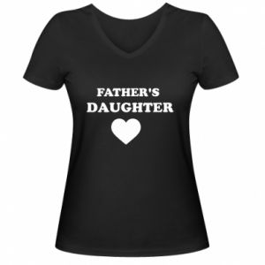 Damska koszulka V-neck Father's daughter