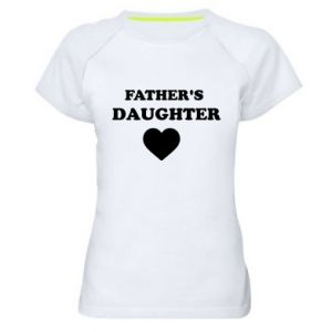 Women's sports t-shirt Father's daughter