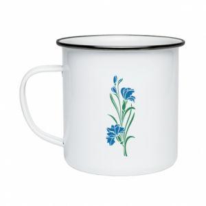 Enameled mug Cornflowers