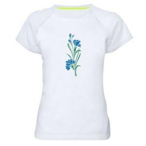 Women's sports t-shirt Cornflowers