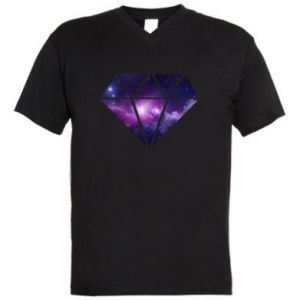 Men's V-neck t-shirt Cosmic crystal
