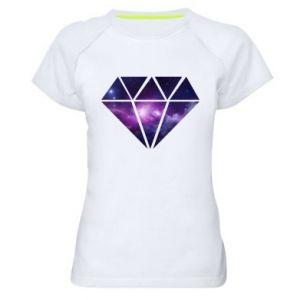 Women's sports t-shirt Cosmic crystal