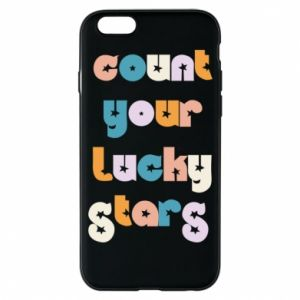 Etui na iPhone 6/6S Count your lucky stars inscription