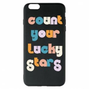 Etui na iPhone 6 Plus/6S Plus Count your lucky stars inscription