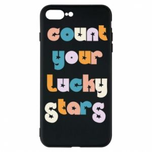 Etui na iPhone 7 Plus Count your lucky stars inscription