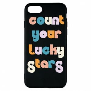 Etui na iPhone 8 Count your lucky stars inscription