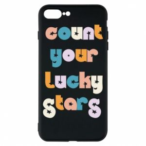 Etui na iPhone 8 Plus Count your lucky stars inscription