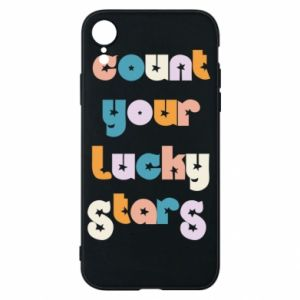 Etui na iPhone XR Count your lucky stars inscription