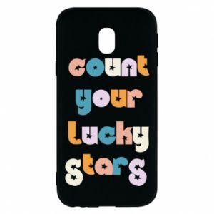 Etui na Samsung J3 2017 Count your lucky stars inscription