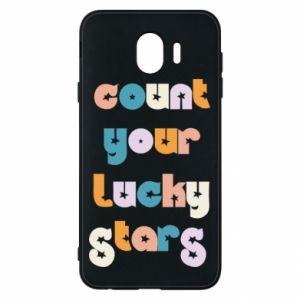 Etui na Samsung J4 Count your lucky stars inscription