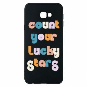 Etui na Samsung J4 Plus 2018 Count your lucky stars inscription