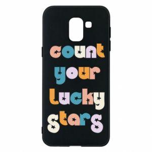 Etui na Samsung J6 Count your lucky stars inscription