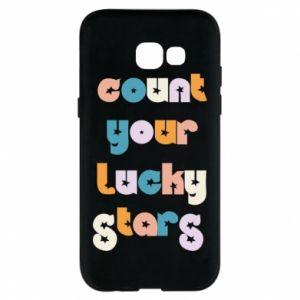 Etui na Samsung A5 2017 Count your lucky stars inscription