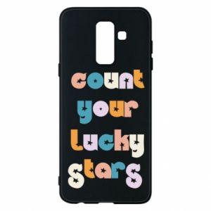 Etui na Samsung A6+ 2018 Count your lucky stars inscription