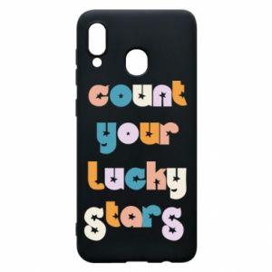 Etui na Samsung A20 Count your lucky stars inscription